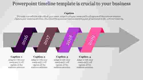 Targeting arrow powerpoint timeline template
