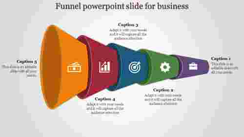 Colorful Funnel Powerpoint Slide