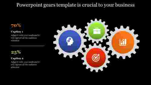 Infographic powerpoint gears template
