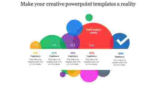 Multi-colored creative powerpoint templates