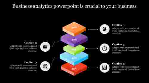 five layer business analytics powerpoint-layrerd vertical