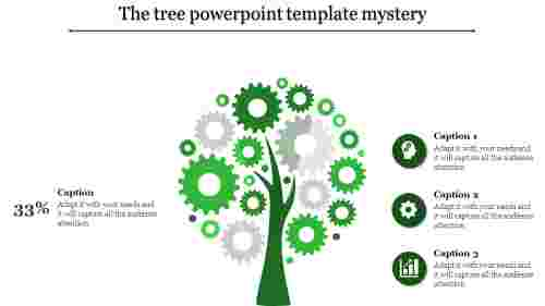 Gear model tree powerpoint template