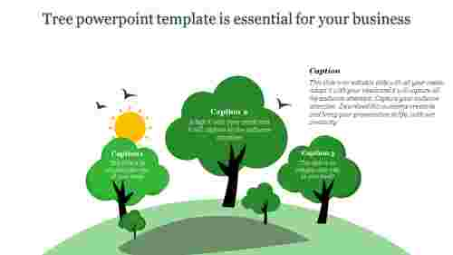 Natural tree powerpoint template