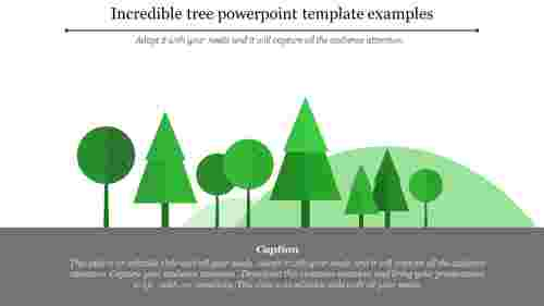 tree powerpoint template with mountain