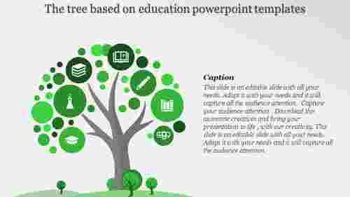 education powerpoint templates with tree design