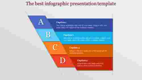 Alphabetic infographic presentation template