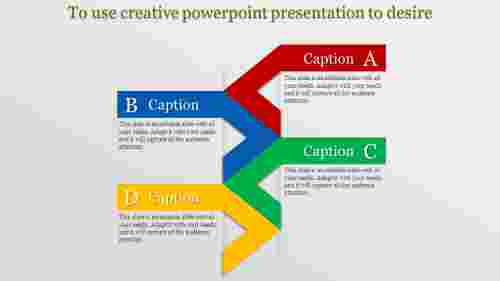 Step model creative powerpoint presentation