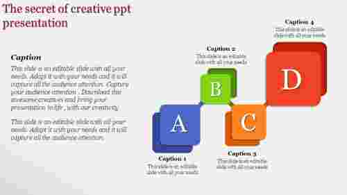 Creative PPT presentation in a rounded rectangle