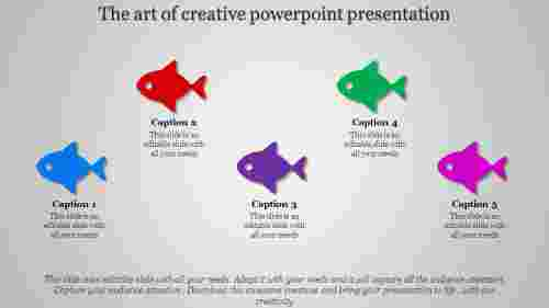 creative powerpoint presentation with fishes