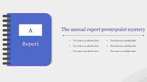 Book model annual report powerpoint