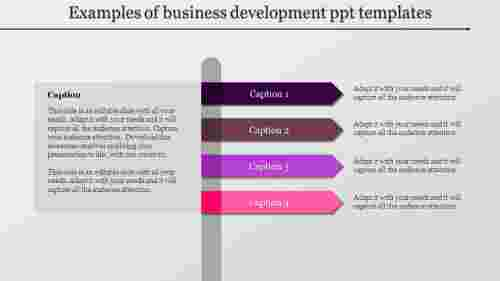Business development ppt templates in indicator design