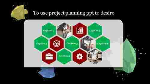 project planning powerpoint - hexagonal blocks
