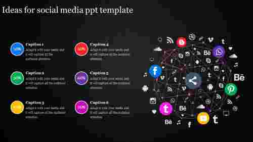 social media ppt template-Ideas for social media ppt template