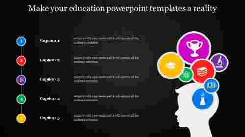 education powerpoint templates with icons