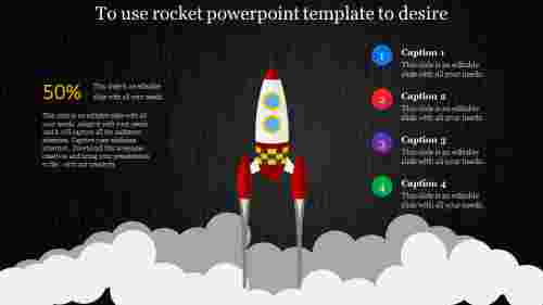rocket powerpoint template - dark back ground