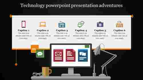 technology powerpoint presentation with icons