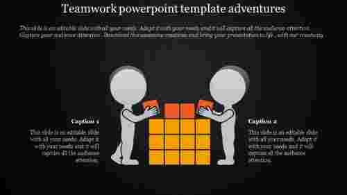 teamwork powerpoint template - block building