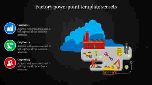 Factory powerpoint template with dark background