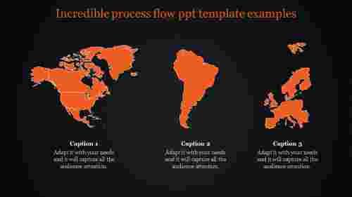 orange world map powerpoint -dark background