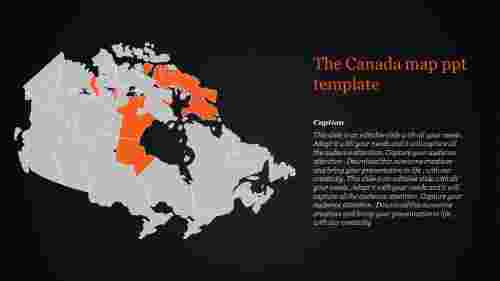 map ppt template-The Canada map ppt template