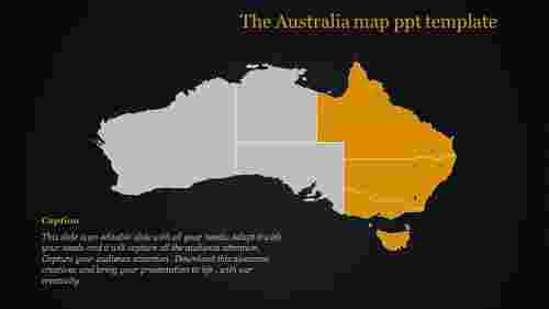 map ppt template-The Australia map ppt template