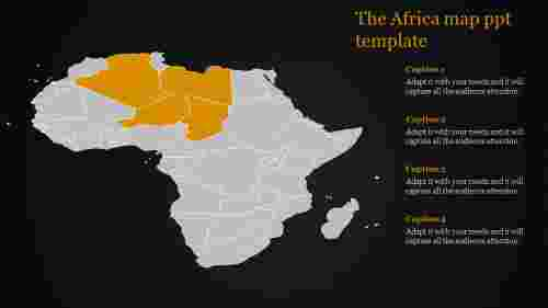 map ppt template-The Africa map ppt template