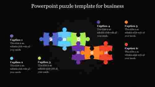 powerpoint puzzle template - dark background