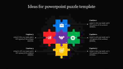powerpoint puzzle template  with icons