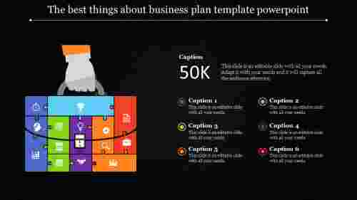 business plan template powerpoint - puzzle model