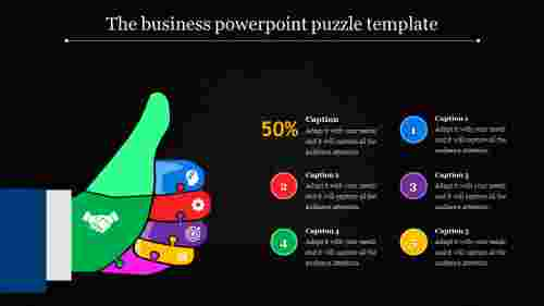 powerpoint puzzle template - success