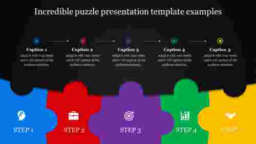 puzzle presentation template - dark background