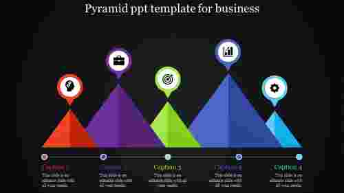 linear parallel pyramid PPT template
