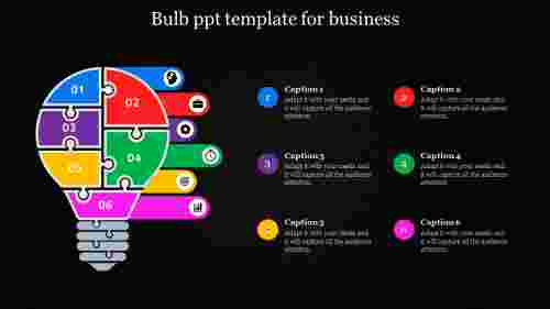 bulb powerpoint template - Puzzle icons