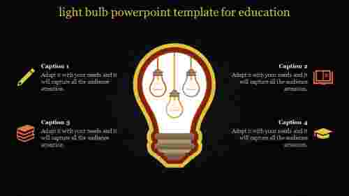 light bulb powerpoint template - four bulbs