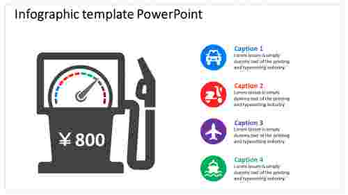 Petrol Bunk machine  Infographic PowerPoint Template