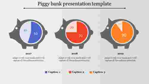 bank presentation template-Piggy bank presentation template