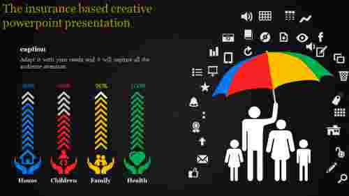 creative powerpoint presentation-The insurance based creative powerpoint presentation