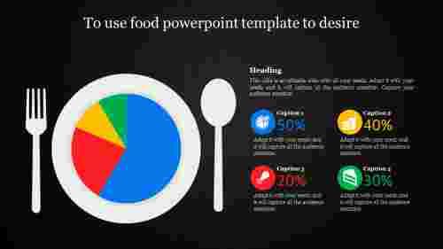 food powerpoint template - dark background