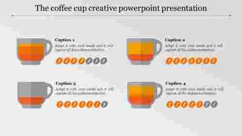 creative powerpoint presentation - four cups