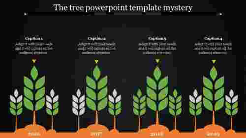 tree powerpoint template - saplings