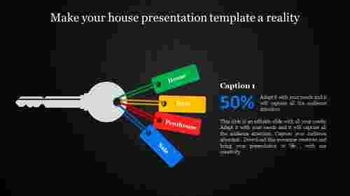house presentation template - key model