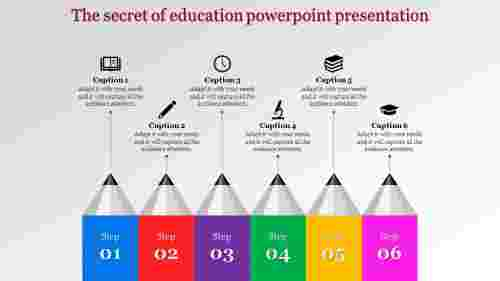 education powerpoint presentation - six pencils
