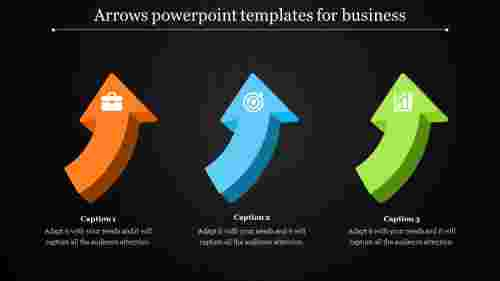 arrows powerpoint templates - three curved arrows
