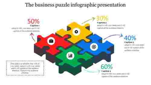 infographic presentation - perspective puzzle