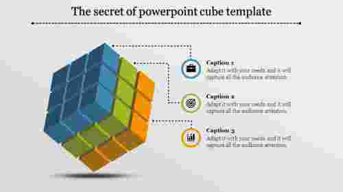 powerpoint cube template - rubik's model