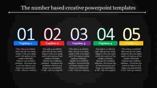 creative powerpoint templates - numerical