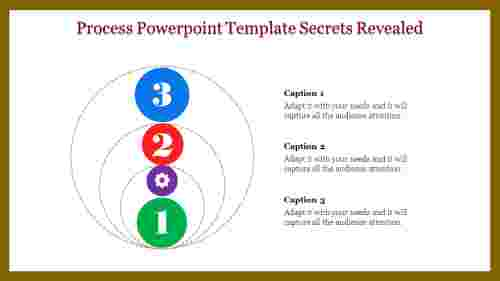 Process powerpoint template with Three Levels