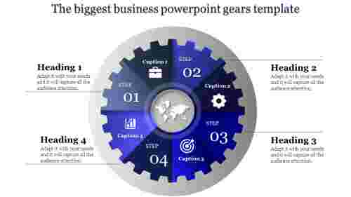 powerpoint gears template - blue