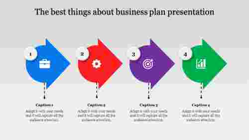 business plan presentation with Innovative arrows