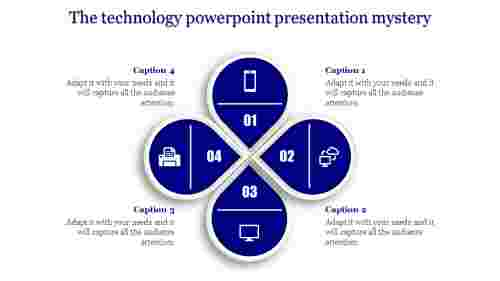 technology powerpoint presentation with steps
